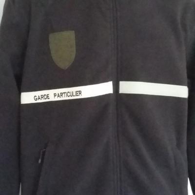 Veste polaire garde particulier garde chasse 300gr 100% polyester(MARRON)