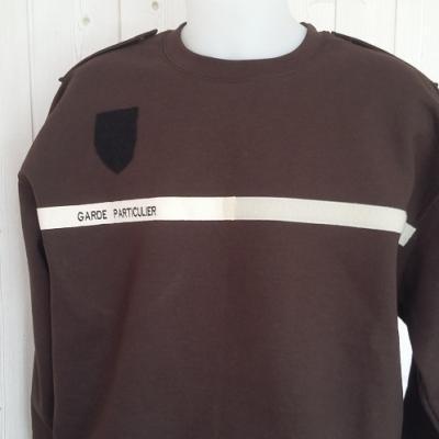 Sweat-shirt équipé (MARRON ou VERT)
