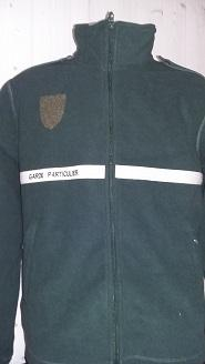 Veste polaire 300gr 100% polyester (VERT) garde chasse particulier
