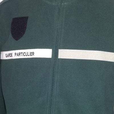 Veste polaire 300gr 100% polyester(VERT) garde chasse particulier