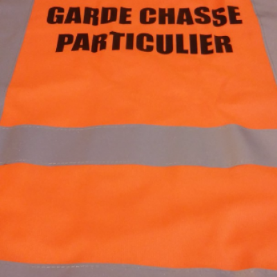 Gilet fluo Garde chasse particulier