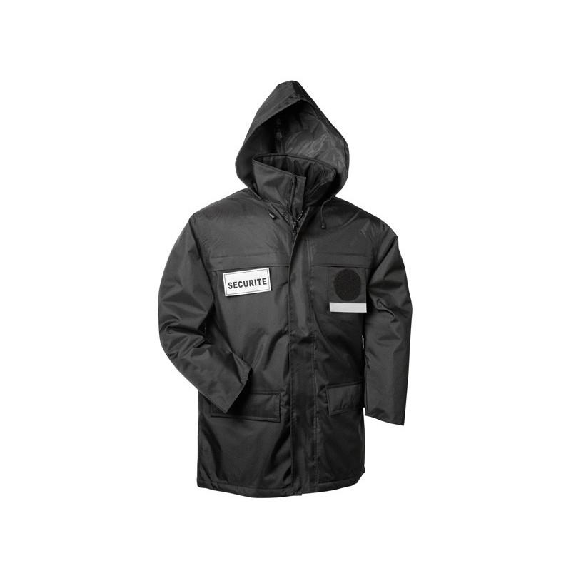 Parka noir avec flap securite bodyguard ref 845